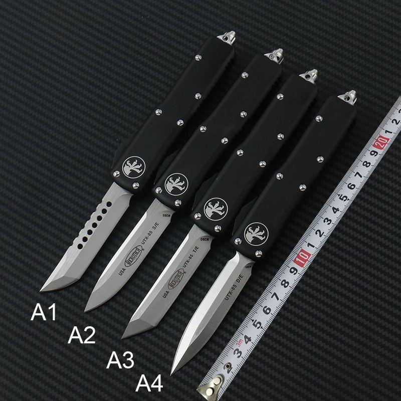 Yüksek kaliteli Microtech UTX85 Ultratech UTX85 UTX85 UTX70 UTX70 Bıçak D2 Blade T6 Alüminyum (CNC) Açık Kamp Bıçaklar EDC aracını Kulp