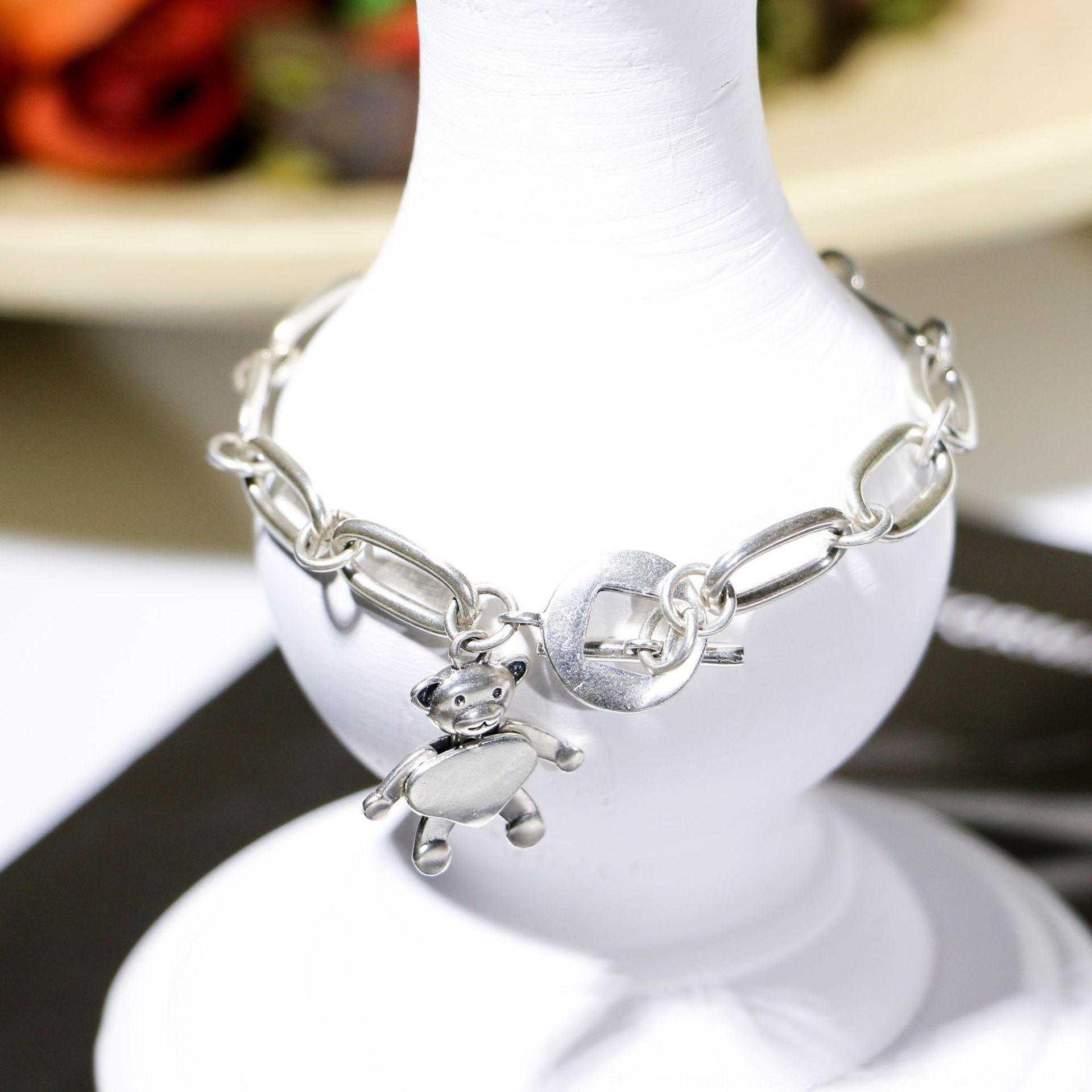 Güney Kore East Gate Tay gümüş dört uzuvlar hareketli ayı bilezik S925 gümüş takı bilezik S6bJP tasarım lightniche