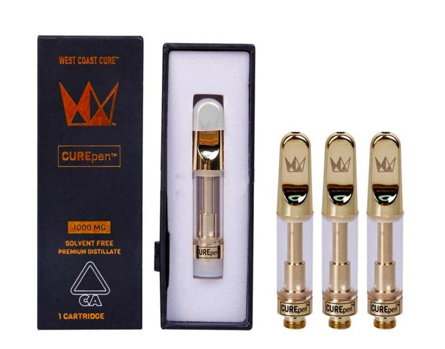 West Coast Cure Keramik Vape Cartridge Curepen leeren Vape Pen 510 Gewinde Cartridge Verpackung .8ML 1.0ML Ölzerstäubungseinrichtung E-Zigaretten Vape Carts