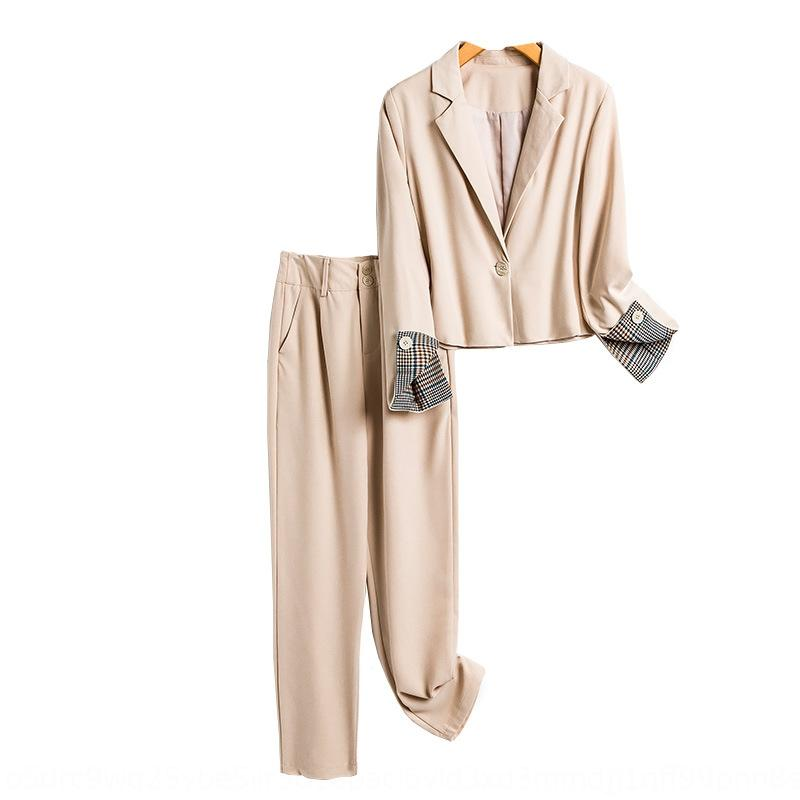 Outono de 2020 novos coreano terno estilo Suit roupa elegante jovem temperamento moda estilo deusa de duas peças set 4537 4bcsX