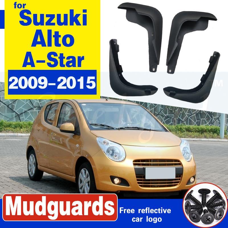 Boue voiture Rabats Bavettes garde-boue BOUE garde-boue pour Suzuki Alto / A-Star Nissan Pixo 2009 2010 2011 2012 2013 2014 2015