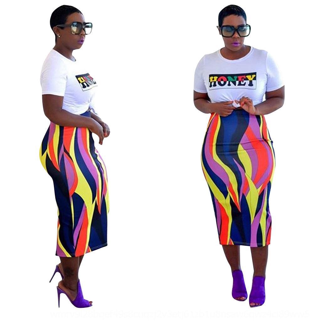 cTbzH c3wgo CY1061 sobre rayadas de dos piezas de la mujer traje de CY1061 de manga corta largo de la falda de dos piezas de falda traje de manga corta de las mujeres