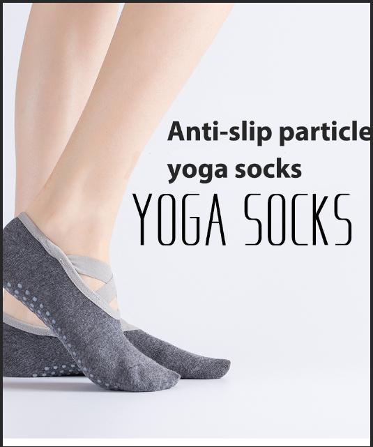 2020 Le donne di sport Yoga Socks nuovo balletto Cross-avvolto Backless Yoga Socks professionale antiscivolo barche a cinque dita Calzini