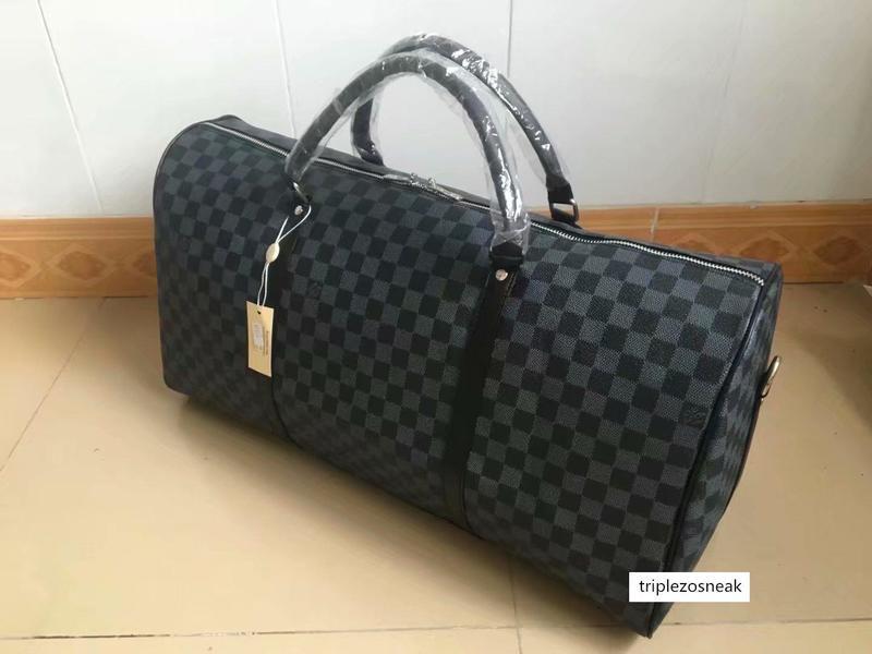 Homens de moda feminina de Viagem Sacos bagagem bolsas, couro bagagem bolsas grande capacidade Sacos de Desporto 55cm 03