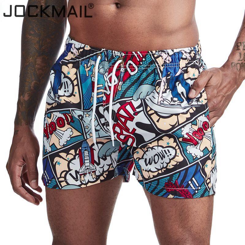 JOCKMAIL Mens Shorts Trunks Beach Consiglio ShortsPrinted fiore del fumetto di nuoto Pantaloni Costumi pantaloncini Mens surffing