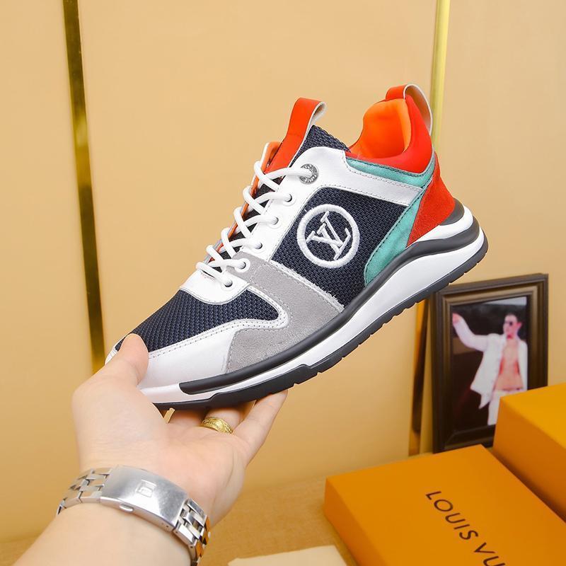 2021A Limited Edition di cuoio di lusso del Mens di disegno alta -Quality Stampato scarpe da tennis selvaggio Mens casuali Scarpe Uomo Scarpe Banchetto Dimensioni: 38 -451