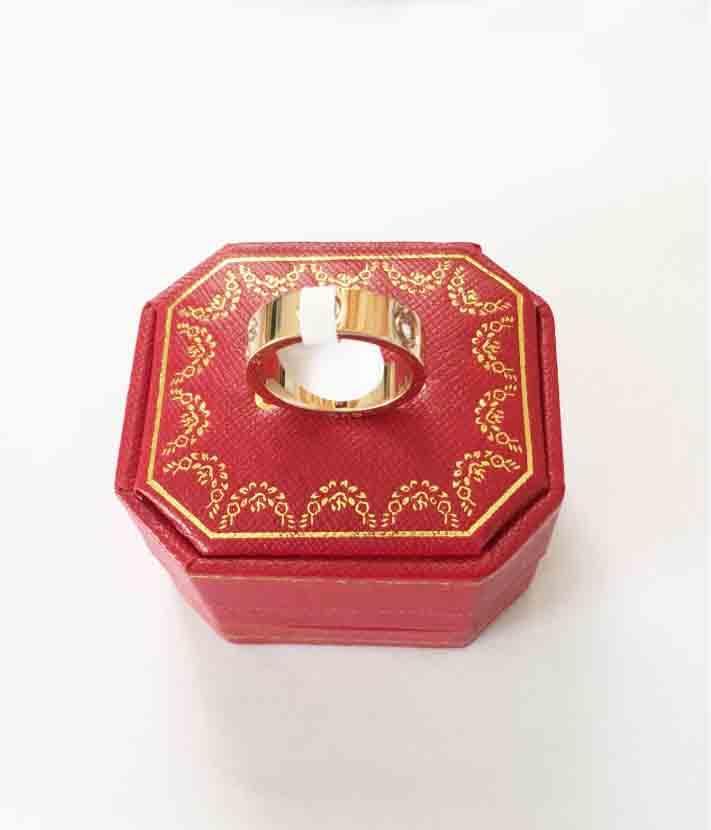 2020 da forma do aço marca Titanium ouro rosa anel AMOR amante prata casamento chave de fenda de aniversário da jóia presente por Mulheres Homens anéis