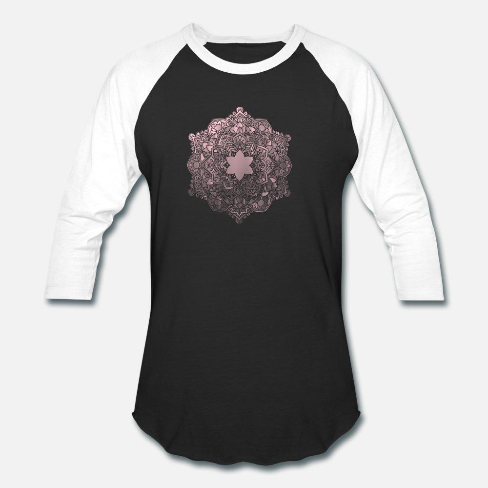 Mandala hermosa forma de dibujo icono de hombres de la camiseta de la camisa personalizada camiseta S-XXXL de la aptitud delgado básico Estilo Fotos de verano