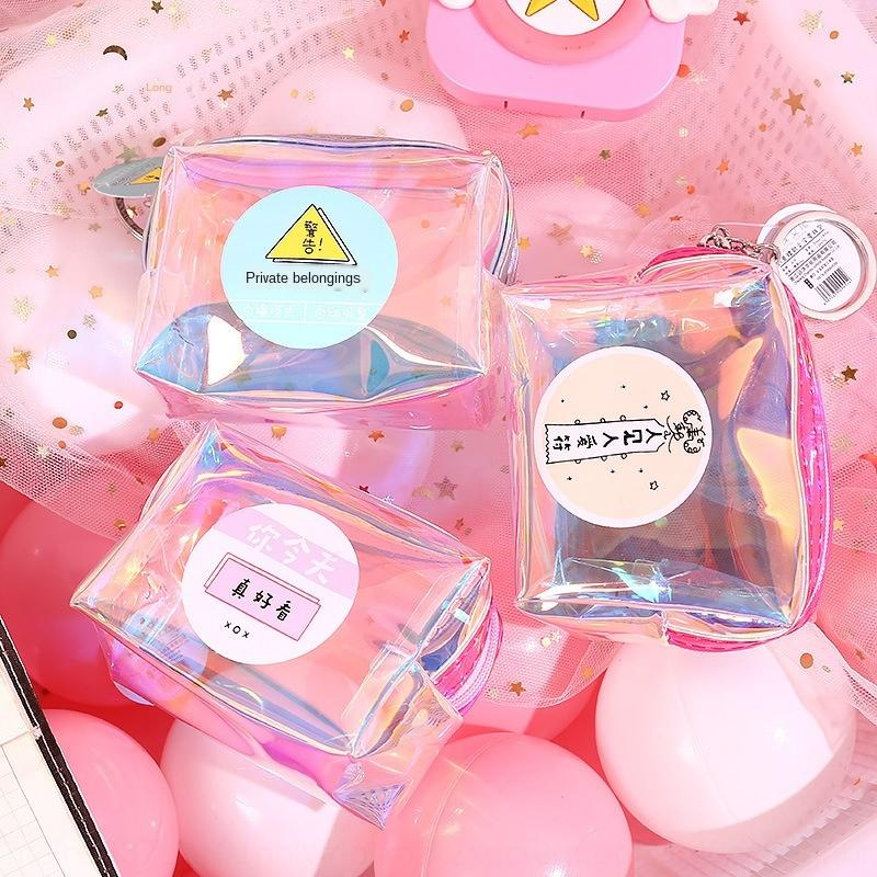 laser de pequeno saco carteira carteira pequeno saco internet celebridade nova coreano de estilo para estudantes do sexo feminino hipster bonito mão mini-bolsa da moeda