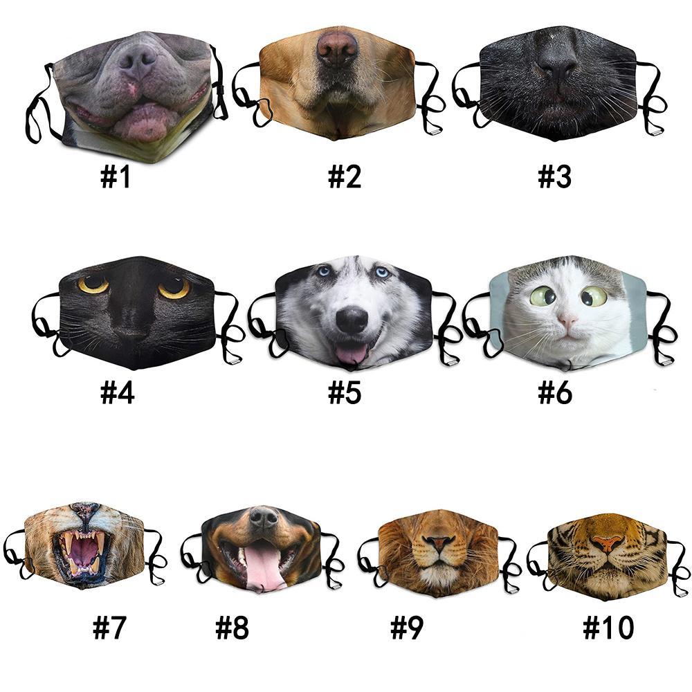 Komik Yüz Maske 3D-Print Koruyucu Kulak-asılı Örtü Hayvan Yıkanabilir Yeniden kullanılabilir Ağız Yetişkin Unisex Tasarım Maskeler Maske yazdır DHL ücretsiz