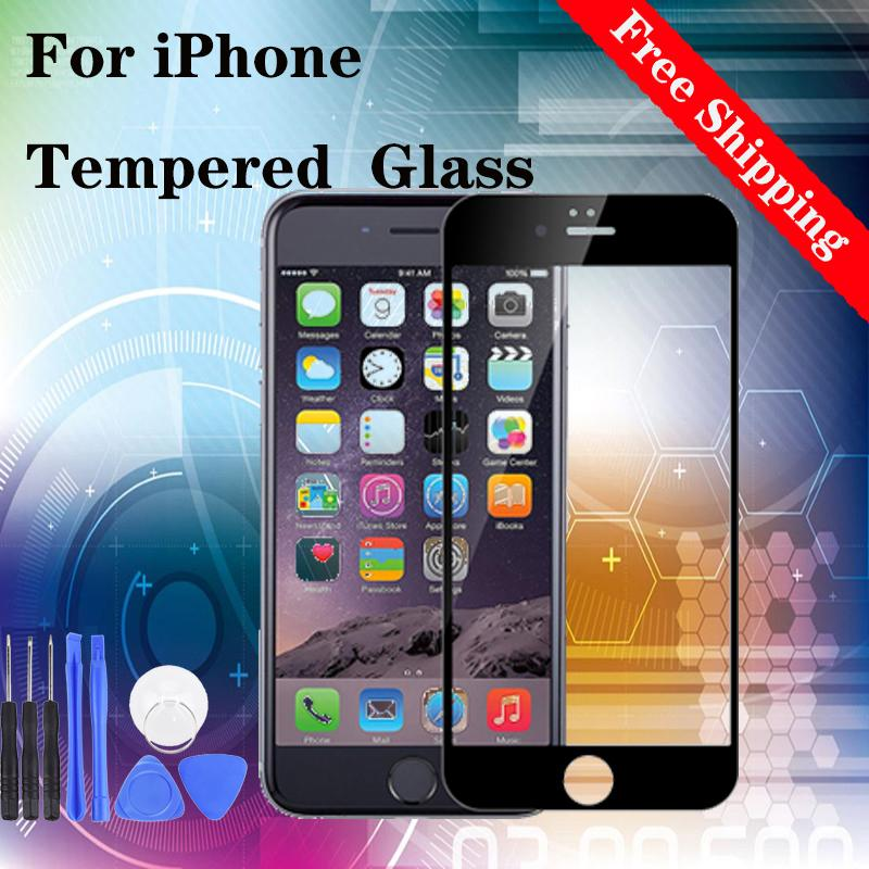 Tempered Glass on For iPhone 7 8 Plus For iPhone X Xr Xs 11 Pro Max Tempered Glass Screen Protector