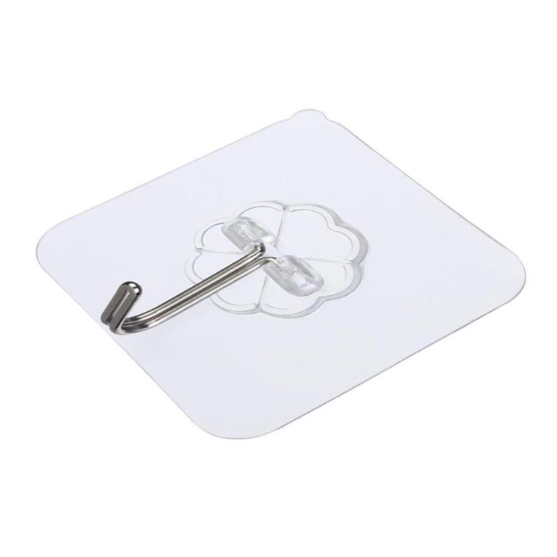 Tile potente ventosa Sucker attaccapanni gancio per la cucina di aspirazione senza saldatura Coppa Robe Bagno Hook Glass T0B7