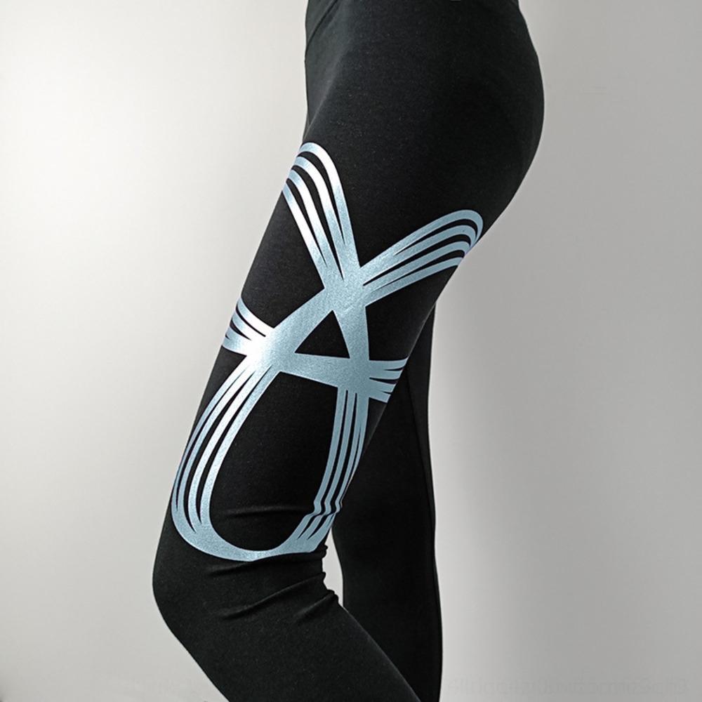 88bdY Тан все-матч гетры брюки Tna плотно на открытом воздухе брюки носить печататься тонкий йога фитнес тугой живот лифтинг бедра летние леггинсы