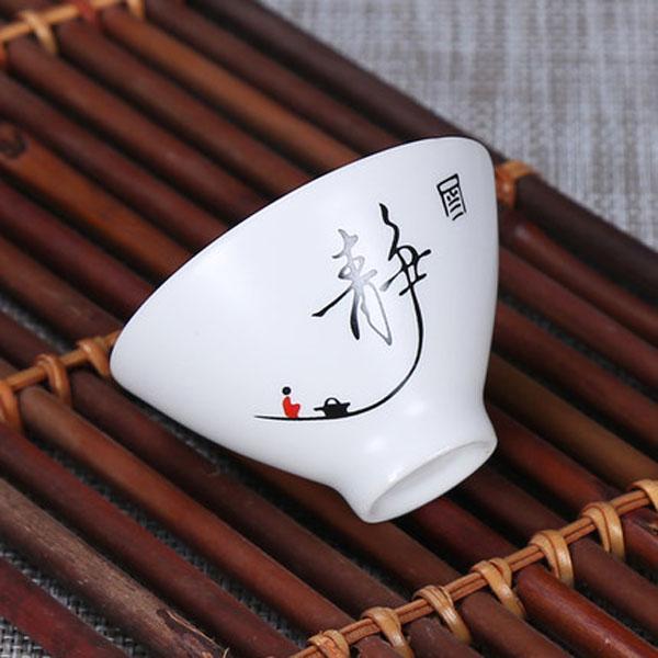2020 6pcs Kung fu tea set Ceramic Tea cup chinese travel set Ice crack tea cup