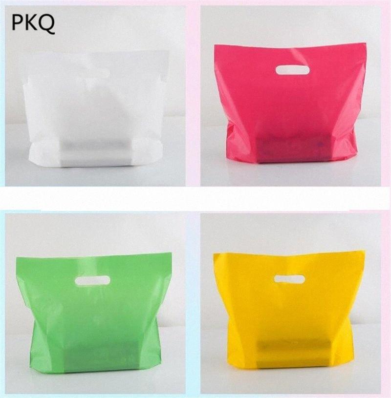 10шт пластиковые упаковочные пакеты с ручкой подарочные пакеты Хлеб мешок пластиковые конфеты печенье мешок подарка Свадьба Фавор Вынос BkAG #