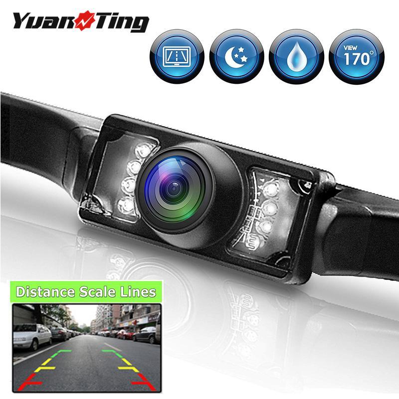 YuanTing CMOS Waterproof Universal 170 Wide Angle US License Plate Car Rear View Backup Parking Camera IR Night Vision 7 LED HD