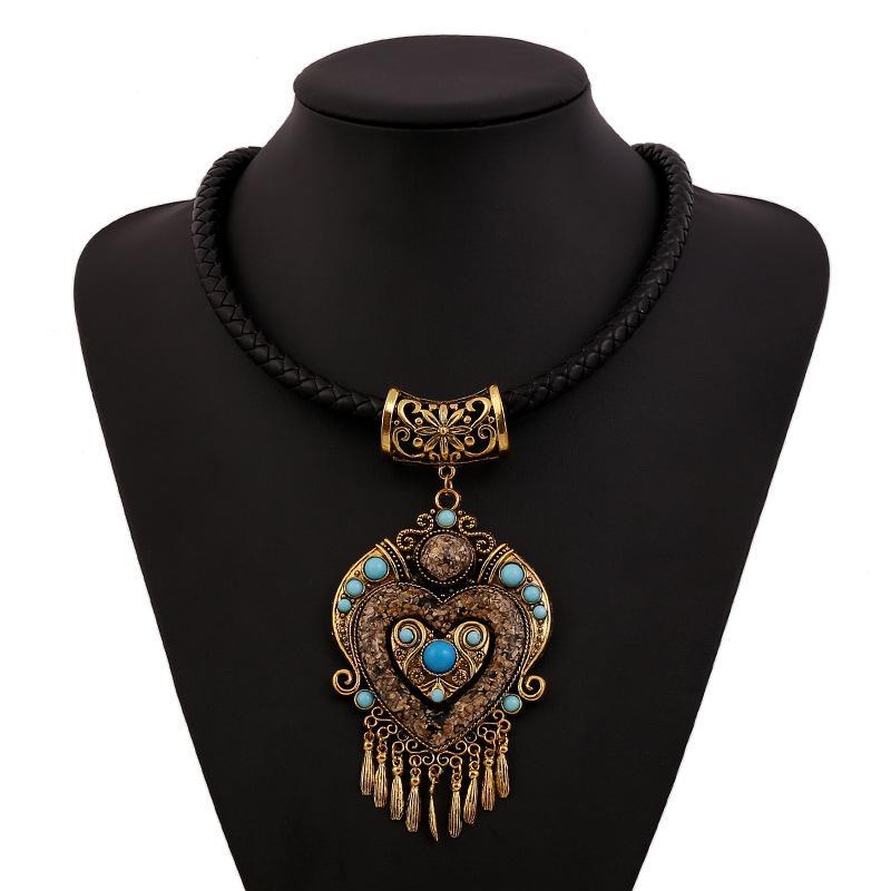 Collares Mujer Choker böhmische Halskette 2020 Fashion Collier Femme Schmuck Quaste Maxi Statement Halsketten-Anhänger