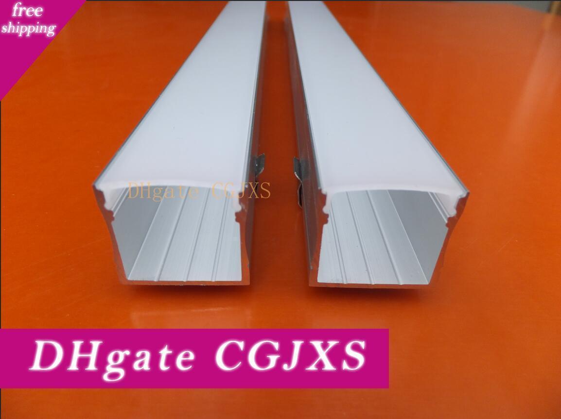 Livraison gratuite Aluminium Led Strip Fixture Canal sous le comptoir Cabinet Light Kit profil en aluminium