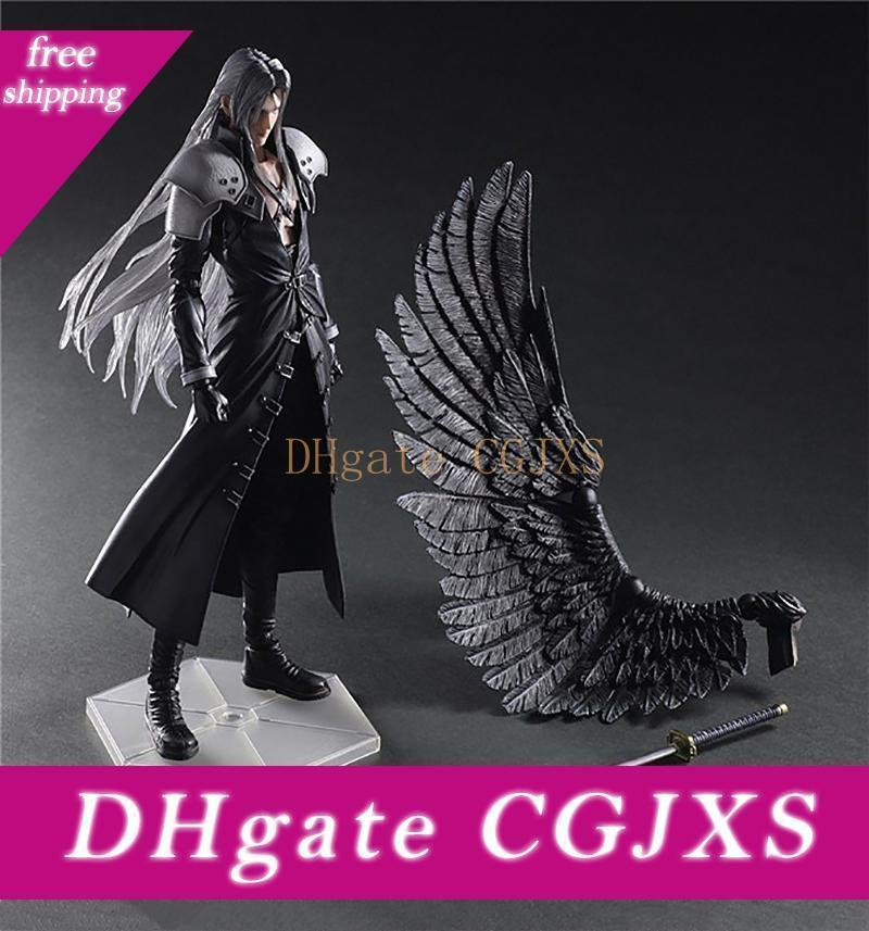 28cm Play Arts Final Fantasy Vii Sephiroth Pa Play Arts Kai Cloud Strife Pvc Action Figure Doll Toys Collectible Model