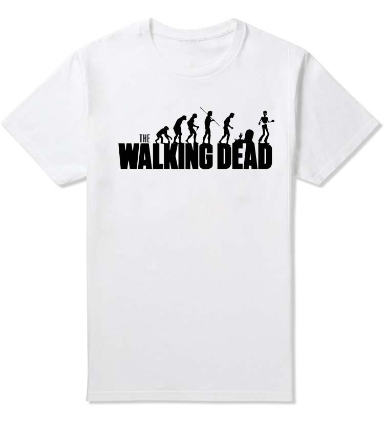 Ropa enfriar The Walking Marca hombres del verano Muerto T camisas de algodón de manga corta remata tes diseño de la novedad película divertida camiseta
