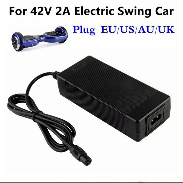 어댑터 충전기 EU / US / AU / 영국 플러그 스쿠터 호버 보드 스마트 밸런스 휠 36V 전력 용 충전기 42V 2A 범용 배터리 충전기