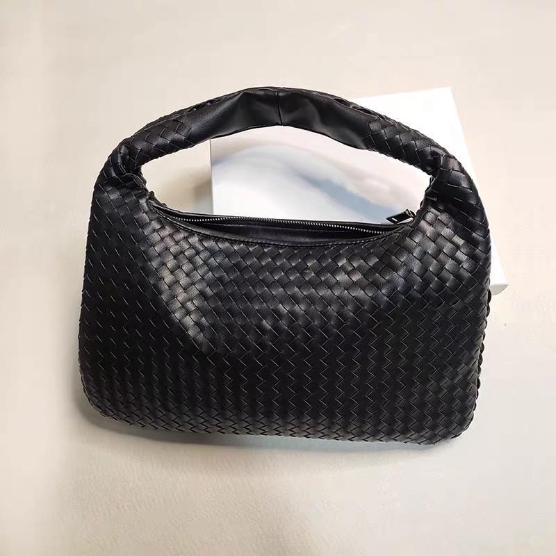Diseño de hombro de lujo 2020 bolsas tejidas bolsas de cuero nuevas mujeres grandes bolsas de damas de mano genuina marca de la moda de la manera de las manos KQWLK