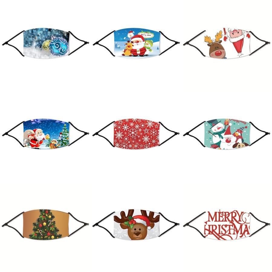 Yeniden kullanılabilir Nefes Vana Noel Maskeler PM2.5 Ağız Noel Ev Koruyucu Ürünler Anti-Dust Karşıtı Kirlilik Noel # 977 Maskesi