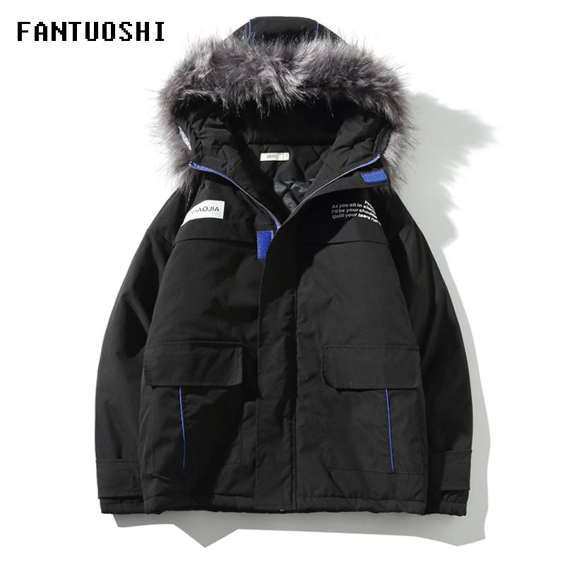 High Quality 2020 Winter Jacket Men Hooded Thick Warm Windproof Parka Coat Casual Loose Down Mens jacket plus size 5XL