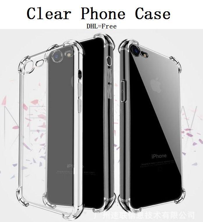 Прозрачный телефон чехол для iPhone 11 Pro MAX XS XR S20 Антидетонационного ТП Защитной противоударной прозрачной крышки