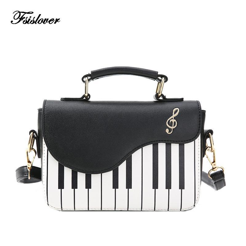 2019 nouvelle mode des femmes Sac à bandoulière dames clés de piano Designer Sacs à main Pochette Femme Broderie Sac à bandoulière Messenger MX200817