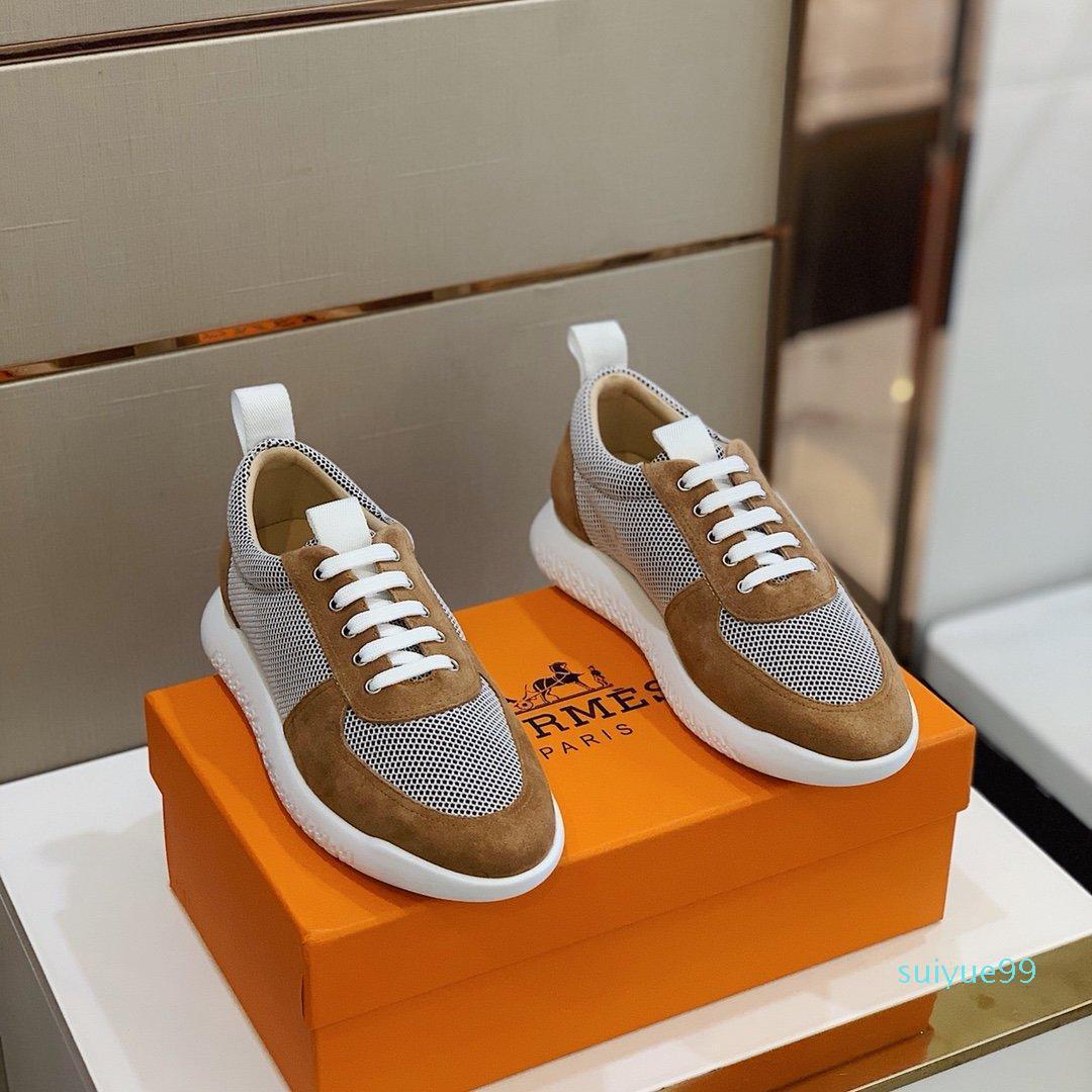 zapatos de diseño caliente 2020SS Azul zapatilla de deporte del adicto a la zapatilla de deporte de los hombres de las zapatillas de deporte, resbalón en los hombres de moda casual entrenador del zapato 38-45 Zapatos casual con BO