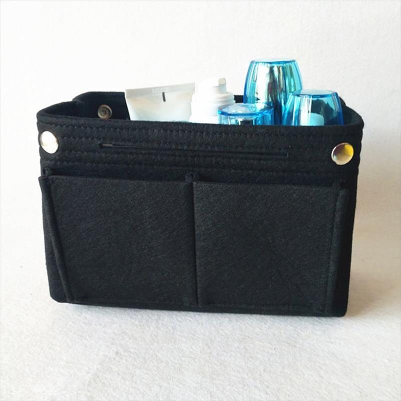 Sacos cosméticos Felt Inserir Purse Organizer bolsa dobrável Cosmética Travel Bag por Mulheres AIC88 Drop Shipping