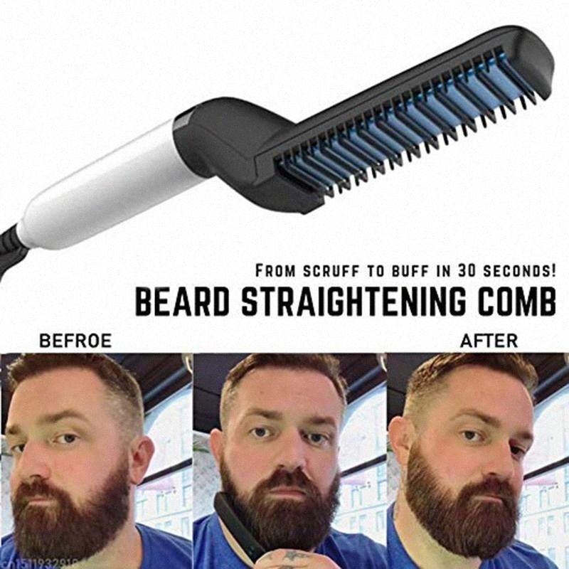 Cheveux Fer à friser Hommes All In One Fer Styling Barbe Céramique Peigne Barbe Lisseur Bigoudi Quick Set Cheveux Styler pour les hommes gratuit Shippin AS07 #