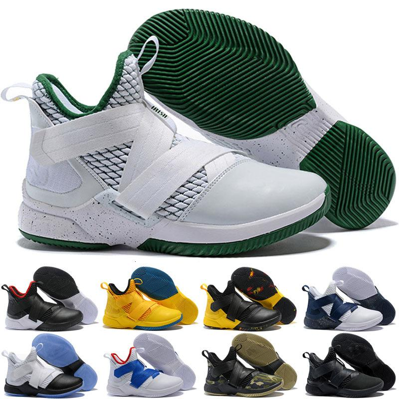 2020 neue beste Soldaten XII 12 Basketball-Schuhe Herren-12 Gold / Meisterschaft MVP Finale Turnschuhe Sporttraining Laufschuhe Weiß