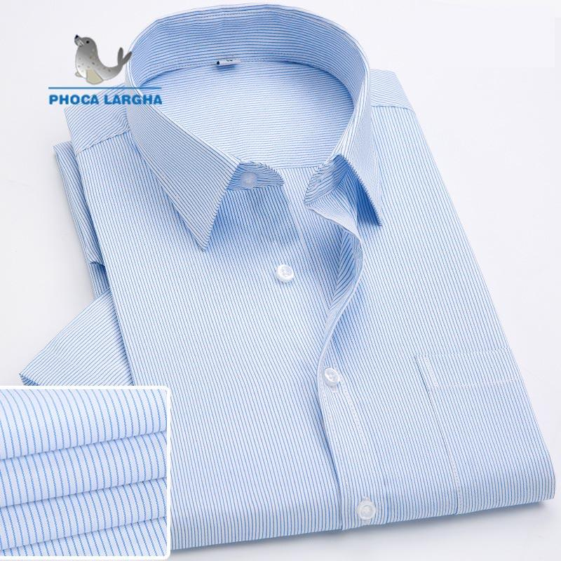 Spring Autumn Dress shirts Long Sleeve Striped Solid Plaid Business Men's Shirts Cotton Casual Men's Turn-down Collar