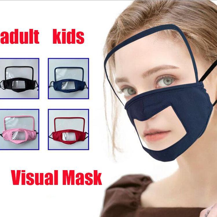 l'arrivée de nouveaux masque visuel avec du coton masque bouclier oeil transparent unisexe facial de protection perméable à l'air lavable masque pour les enfants adultes