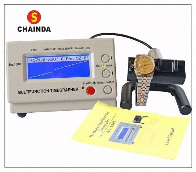 Weishi 1000 orologio meccanico Timing Macchina orologio Timegrapher per la riparazione + 1pc panno di pulizia ebQu #