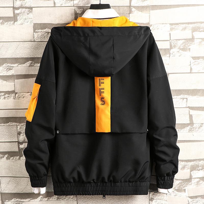 Uomo cargo bomber giacca designer giapponese gilet autunno grande tasca del cappotto Harajuku hip-hop giacca a vento giacca a vento della moda coreana