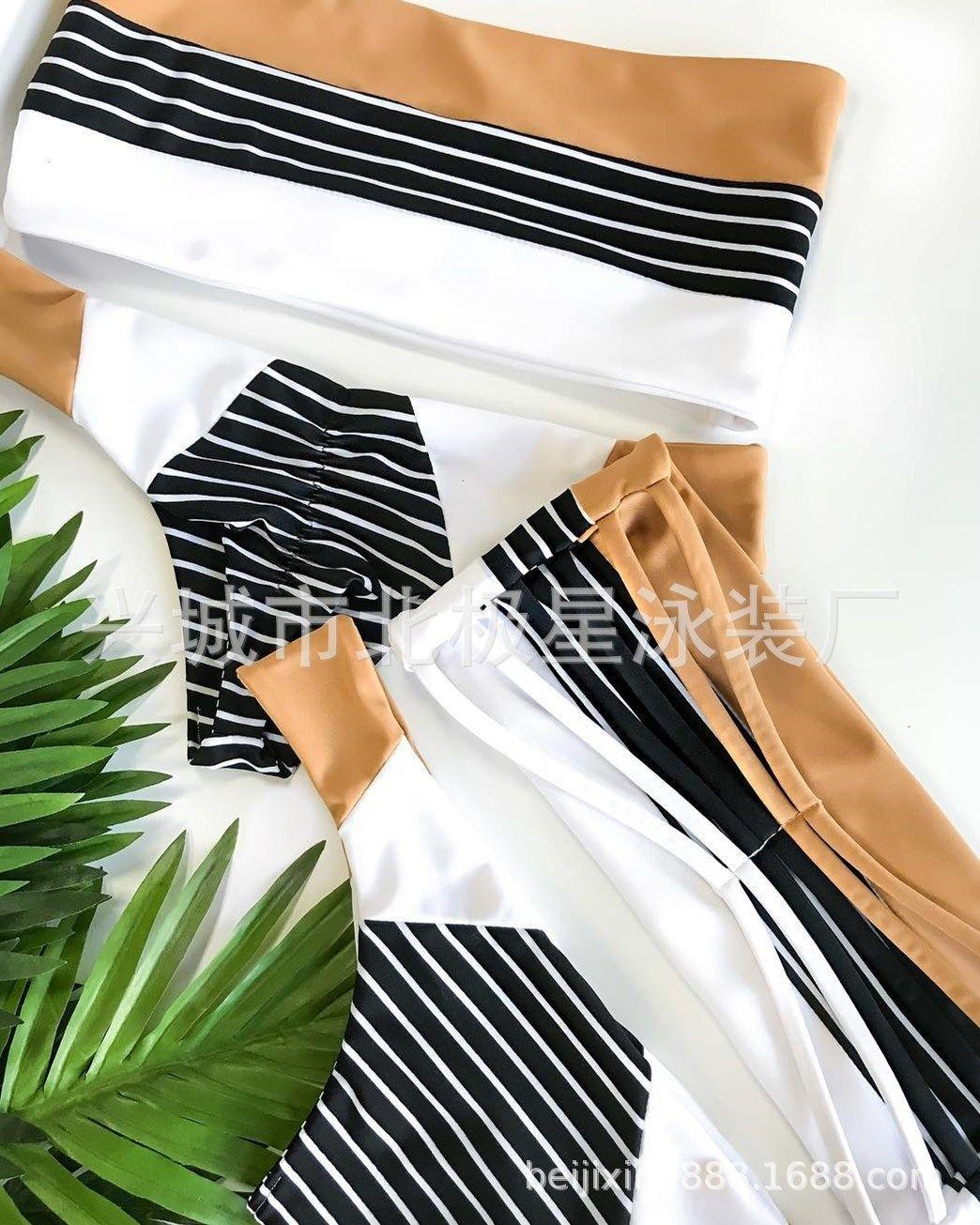 pUuic nylon 2020 listrado das mulheres impressos divisão triângulo novo 2020 swimsuit do biquini Biquini listrado impressa triângulo divisão das mulheres maiô novo n