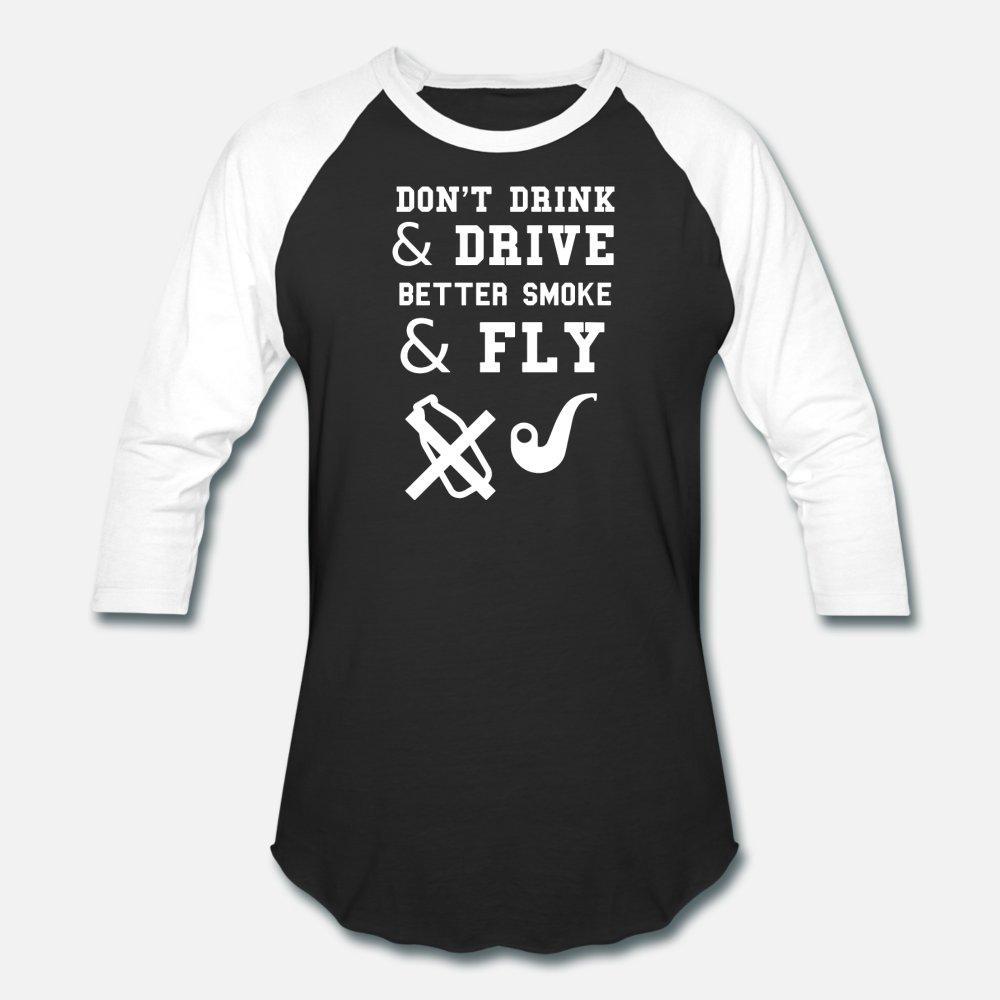 bebida don t e dirigir melhor o fumo e voar camisa homens hip hop t Imprimir senhores O manga curta Neck Camisa bonito Edifício verão vintage