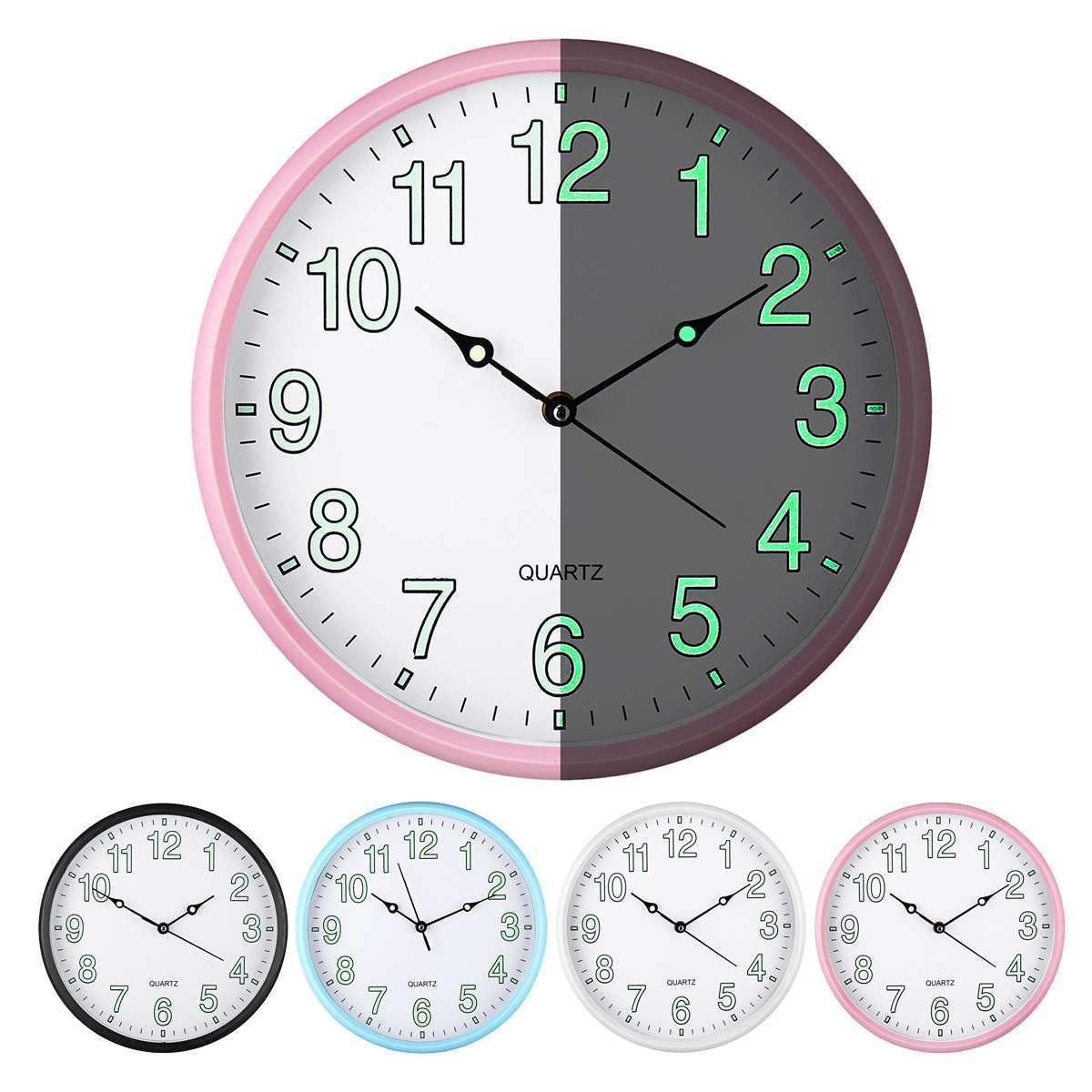 12 Wall Clock Glow In The Dark Silent Quartz Home Decoration Livingroom Digital Number Wall Clock Glow Light Up Y200109 Wall Clocks For Kitchens Wall Clocks For Living Room From Highqualit06 25 59