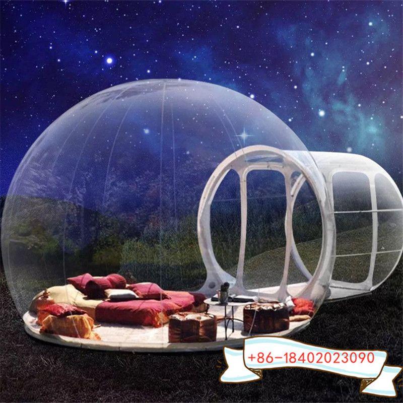 5m Raum mit 2m Tür neue aufblasbare Blase tent zum Verkauf / transparent aufblasbare Kugel Zelt / bubble tent