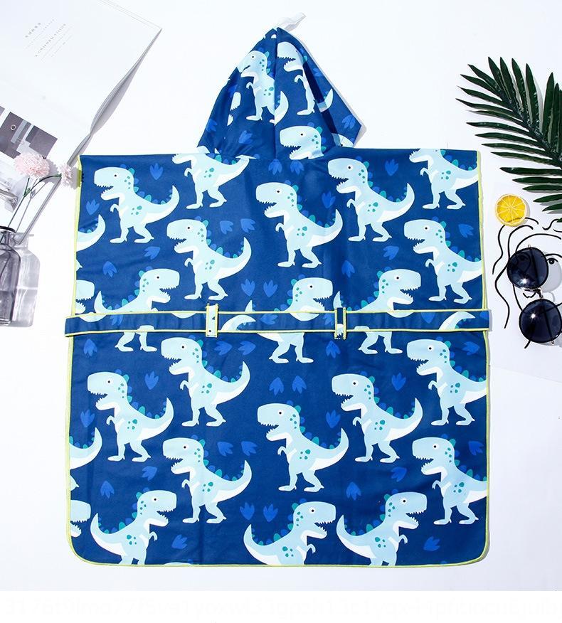 2020 новых детей полотенце синий динозавр мультфильм Пляжное полотенце печататься с капюшоном пляж халат плащ плавательным плащ UHvqo