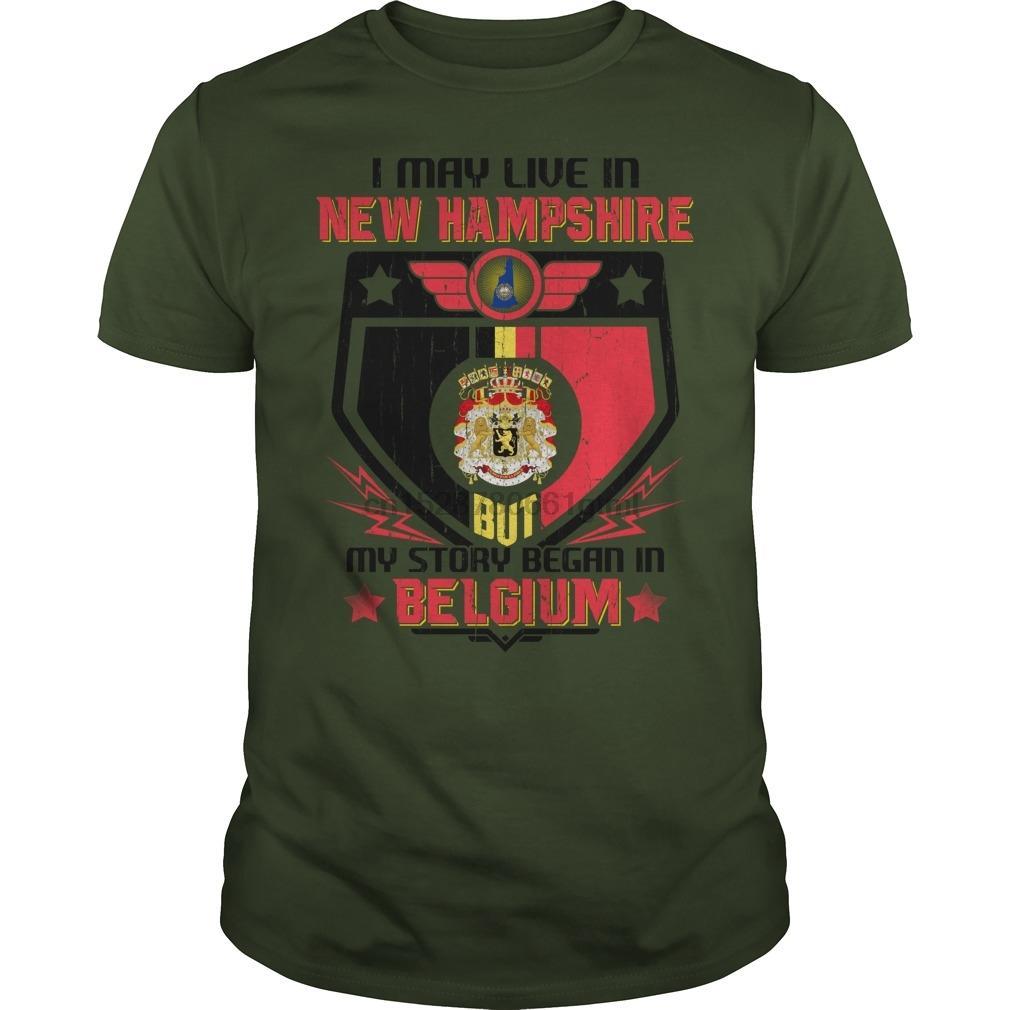 Uomini manica corta maglietta New Hampshire Belgio fresco Donne tshirt