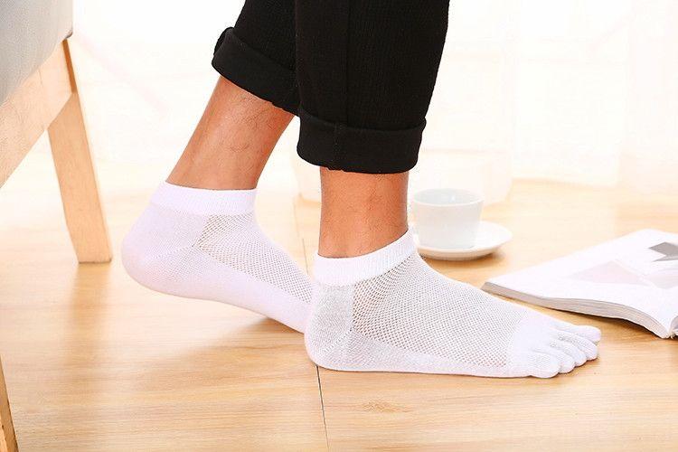 estate del cotone AUNd8 e gli uomini di cinque dita calze calze piedi sudare-assorbenti traspirante giapponese maglia coreana e stile gentleman