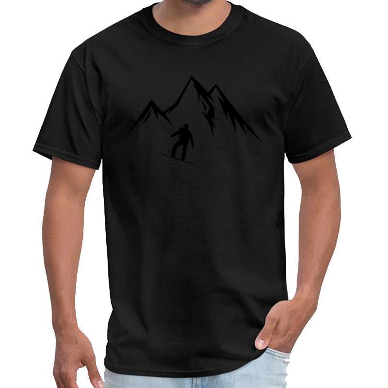 snowboard personnalisé, le ski, les hommes de chemise de sport tee montagne t chemise s-5XL pop tee top