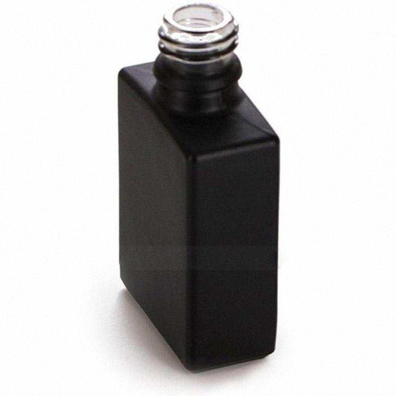 In Stock Square Glass Perfume Bottles 30ml Black E Liquid Essential Oil Dropper Bottle With Childproof Cap & Tamper Evident Cap Refill MH5E#