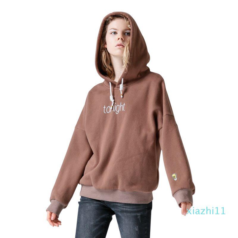 Heiße Verkaufs-Art- und Sweatshirts Herbst-Frauen-beiläufige Buchstabe-Drucken Lustige Stickerei lose PulloverHoodies O-Ansatz Hoody