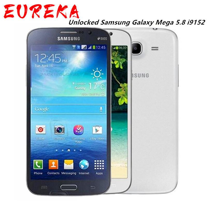 Восстановленная оригинальная Samsung Galaxy Mega 5.8 I9152 Dual SIM 5,8 дюйма Двойной ядра 1.5 ГБ + 8 ГБ память разблокирована Android DHL DHL