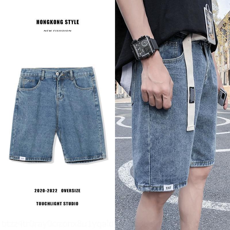 pantalones cortos casuales PM1Nq nN30g verano de mezclilla recta delgada recortada estilo nuevos pantalones hasta los tobillos los pantalones vaqueros y los pantalones vaqueros de los hombres de moda de la moda K pantalones de los hombres